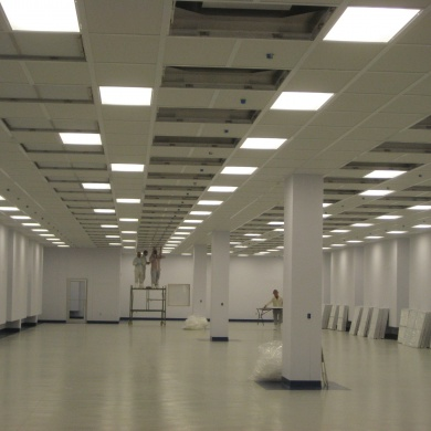 cleanroom ceiling construction